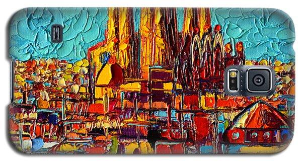Barcelona Abstract Cityscape - Sagrada Familia Galaxy S5 Case