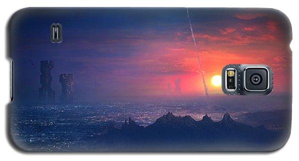 Barcelona Smoke And Neons Montserrat Galaxy S5 Case