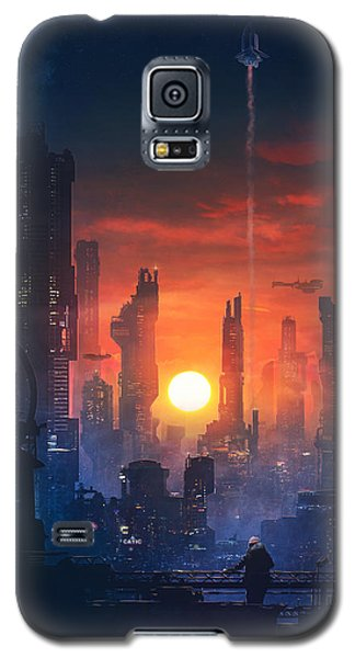 Barcelona Galaxy S5 Case - Barcelona Smoke And Neons The End by Guillem H Pongiluppi