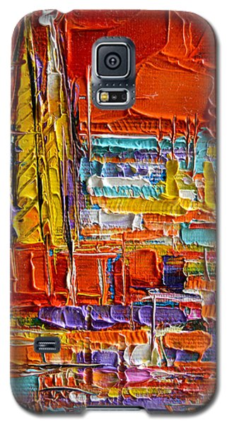 Barcelona View From Parc Guell - Abstract Miniature Galaxy S5 Case