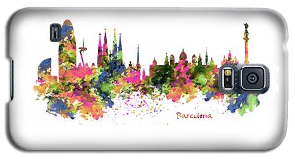 Barcelona Watercolor Skyline Galaxy S5 Case by Marian Voicu