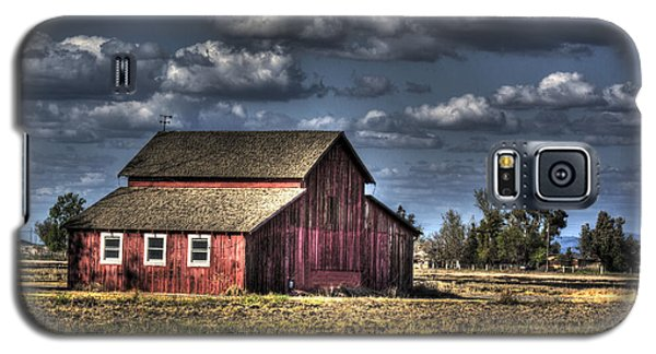 Galaxy S5 Case featuring the photograph Barn After Storm by Jim and Emily Bush