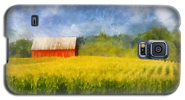 Barn And Cornfield Galaxy S5 Case by Francesa Miller