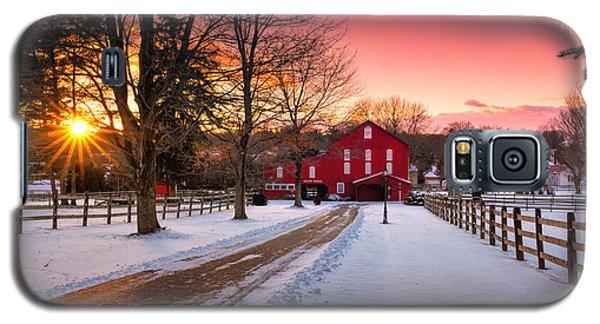 Barn At Sunset  Galaxy S5 Case