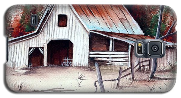 Galaxy S5 Case featuring the painting Barn by Denise Fulmer