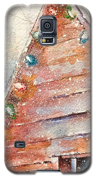 Barn In Snow Galaxy S5 Case