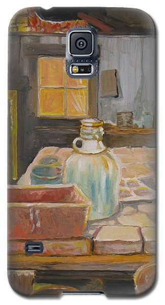 Galaxy S5 Case featuring the painting Barn by Julie Todd-Cundiff