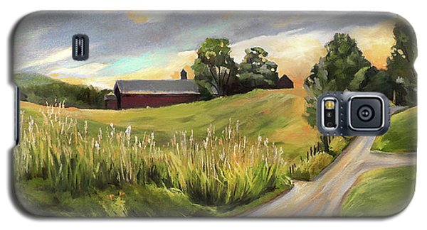Barn On The Ridge In West Newbury Vermont Galaxy S5 Case