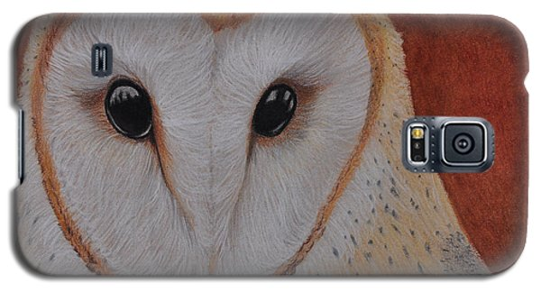 Galaxy S5 Case featuring the drawing Barn Owl by Jo Baner