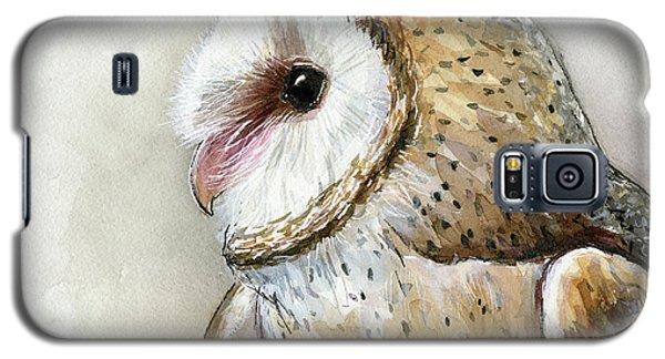 Barn Owl Watercolor Galaxy S5 Case