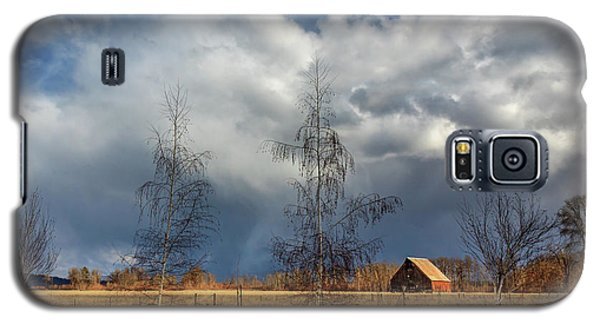 Galaxy S5 Case featuring the photograph Barn Storm by James Eddy