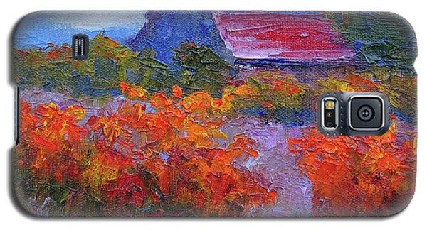 Barn Vineyard Autumn Galaxy S5 Case