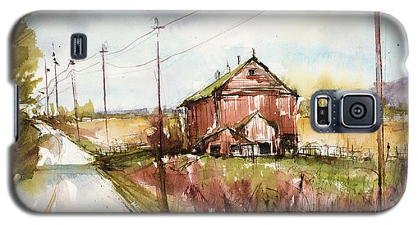 Barns And Electric Poles, Sunday Drive Galaxy S5 Case by Judith Levins