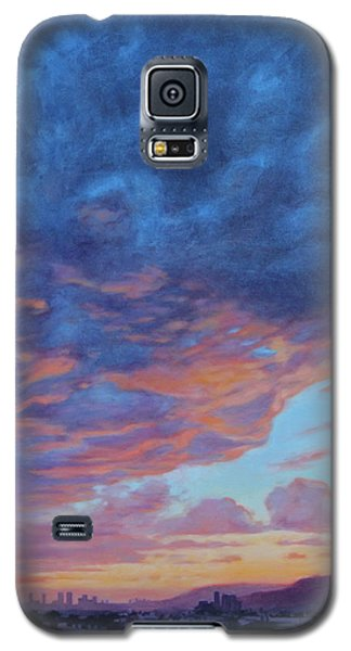 Galaxy S5 Case featuring the painting Barnsdall Hill by Andrew Danielsen