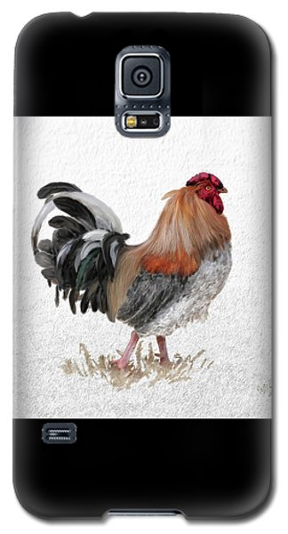 Galaxy S5 Case featuring the digital art Barnyard Boss by Lois Bryan