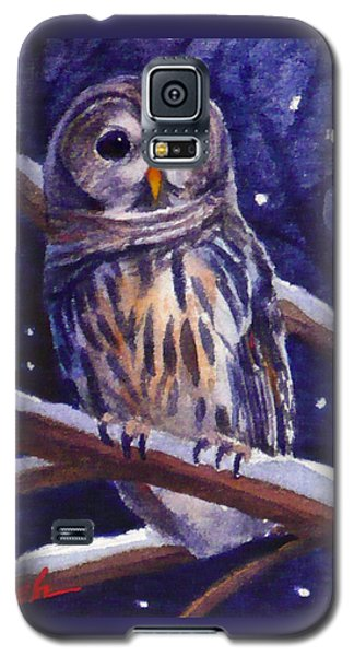 Barred Owl And Starry Sky Galaxy S5 Case