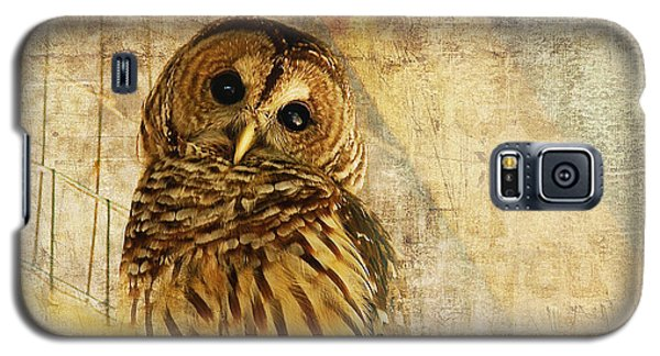 Galaxy S5 Case featuring the photograph Barred Owl by Lois Bryan