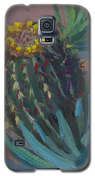 Barrel Cactus In Bloom - Boyce Thompson Arboretum Galaxy S5 Case by Diane McClary