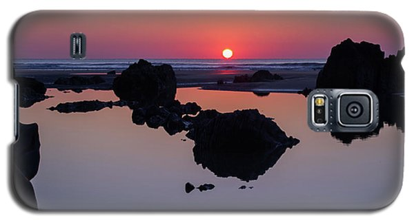 Barricane Beach In Devon Galaxy S5 Case