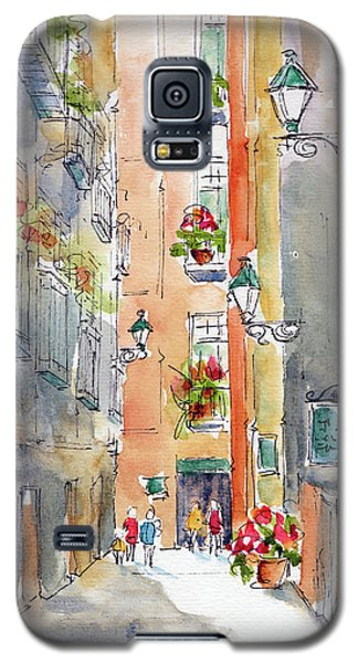 Galaxy S5 Case featuring the painting Barrio Gotico Barcelona by Pat Katz
