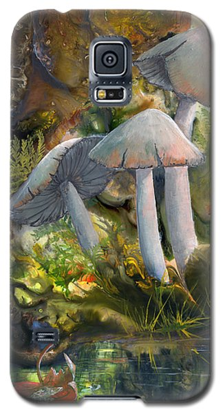 Galaxy S5 Case featuring the painting Base Camp by Sherry Shipley