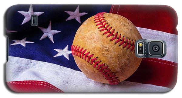Baseball And American Flag Galaxy S5 Case