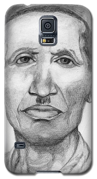 Galaxy S5 Case featuring the drawing Bashi by Annemeet Hasidi- van der Leij