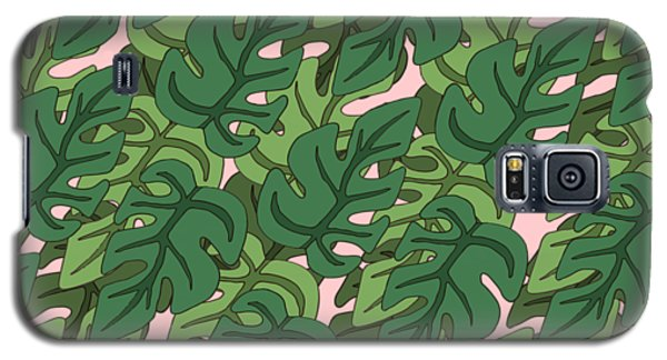Basic Green Lead Pattern Galaxy S5 Case