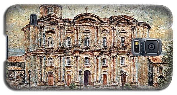 Galaxy S5 Case featuring the painting Basilica De San Martin De Tours by Joey Agbayani