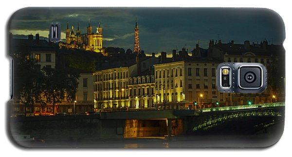 Galaxy S5 Case featuring the photograph Basilica Notre Dame De Fourviere From Across The Rhone River by Allen Sheffield