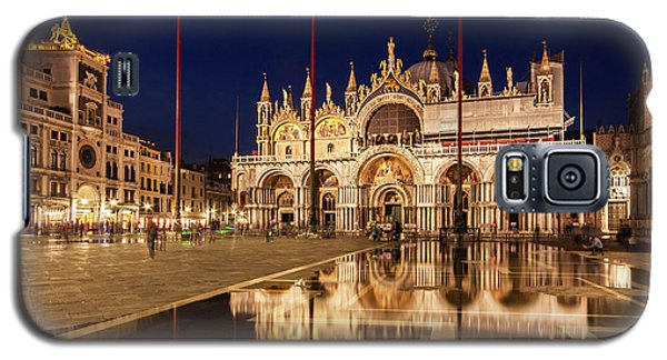 Basilica San Marco Reflections At Night - Venice, Italy Galaxy S5 Case