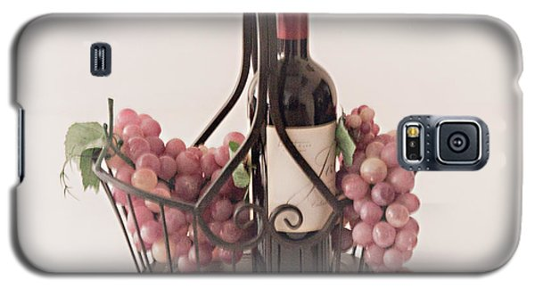 Basket Of Wine And Grapes Galaxy S5 Case