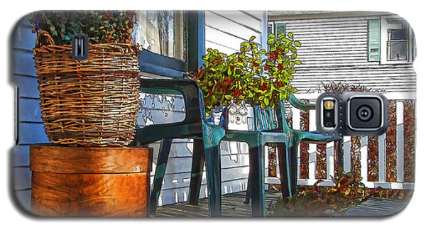 Galaxy S5 Case featuring the photograph Basket Porch by Betsy Zimmerli