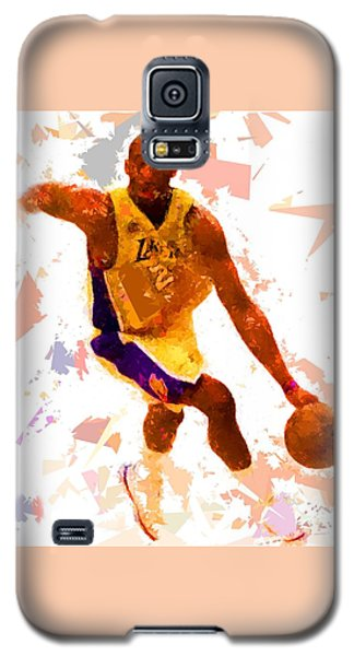 Galaxy S5 Case featuring the painting Basketball 24 A by Movie Poster Prints