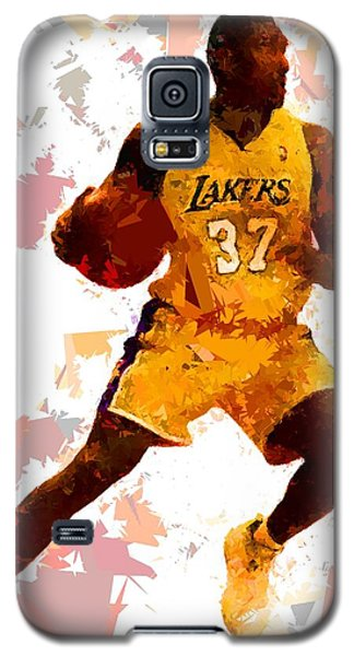 Galaxy S5 Case featuring the painting Basketball 37 by Movie Poster Prints