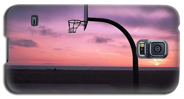 Basketball Court At Sunset Galaxy S5 Case