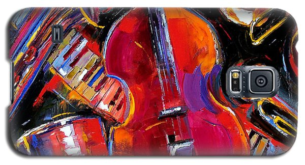 Trombone Galaxy S5 Case - Bass And Friends by Debra Hurd