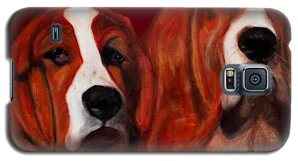 Basset Hound - Mia And Marcellus Galaxy S5 Case by Laura  Grisham