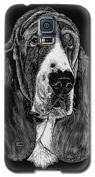 Galaxy S5 Case featuring the drawing Basset Hound by Rachel Hames