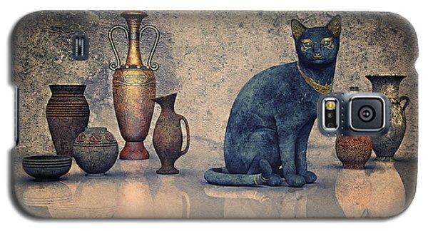 Bastet And Pottery Galaxy S5 Case by Jutta Maria Pusl