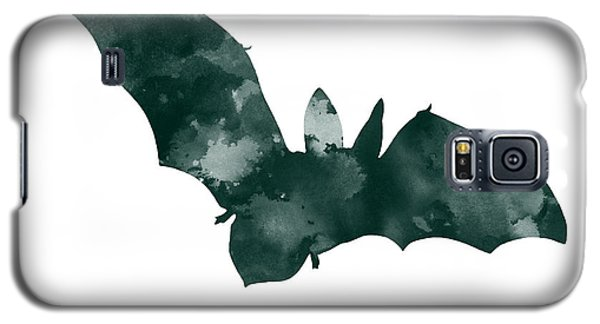 Bat Galaxy S5 Case - Bat Minimalist Watercolor Painting For Sale by Joanna Szmerdt