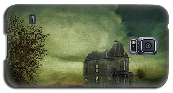 Galaxy S5 Case featuring the mixed media Bates Residence by Jim  Hatch