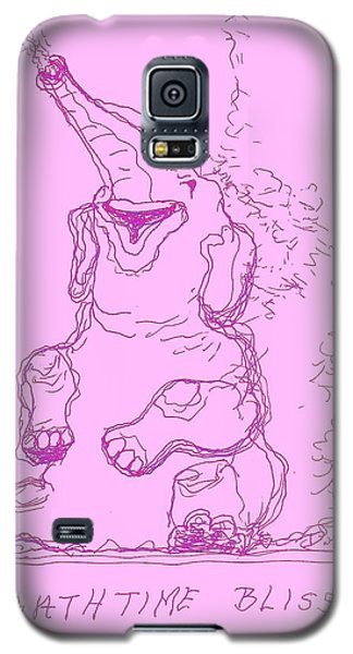Galaxy S5 Case featuring the drawing Bath Time Bliss by Denise Fulmer