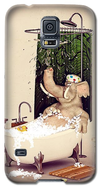 Galaxy S5 Case featuring the digital art Bath Time by Methune Hively