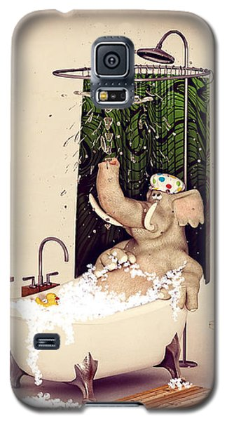 Bath Time Galaxy S5 Case by Methune Hively