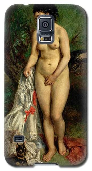 Griffon Galaxy S5 Case - Bather With A Griffon Dog by Pierre-Auguste Renoir