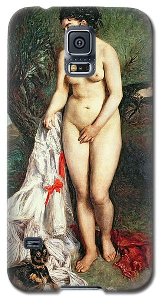 Bather With A Griffon Dog Galaxy S5 Case by Pierrre Auguste Renoir