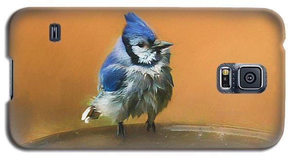 Bathing Blue Jay Galaxy S5 Case