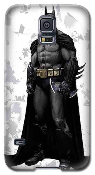 Galaxy S5 Case featuring the mixed media Batman Splash Super Hero Series by Movie Poster Prints