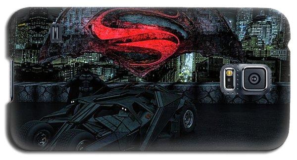 Galaxy S5 Case featuring the photograph Batman Versus Superman by Louis Ferreira